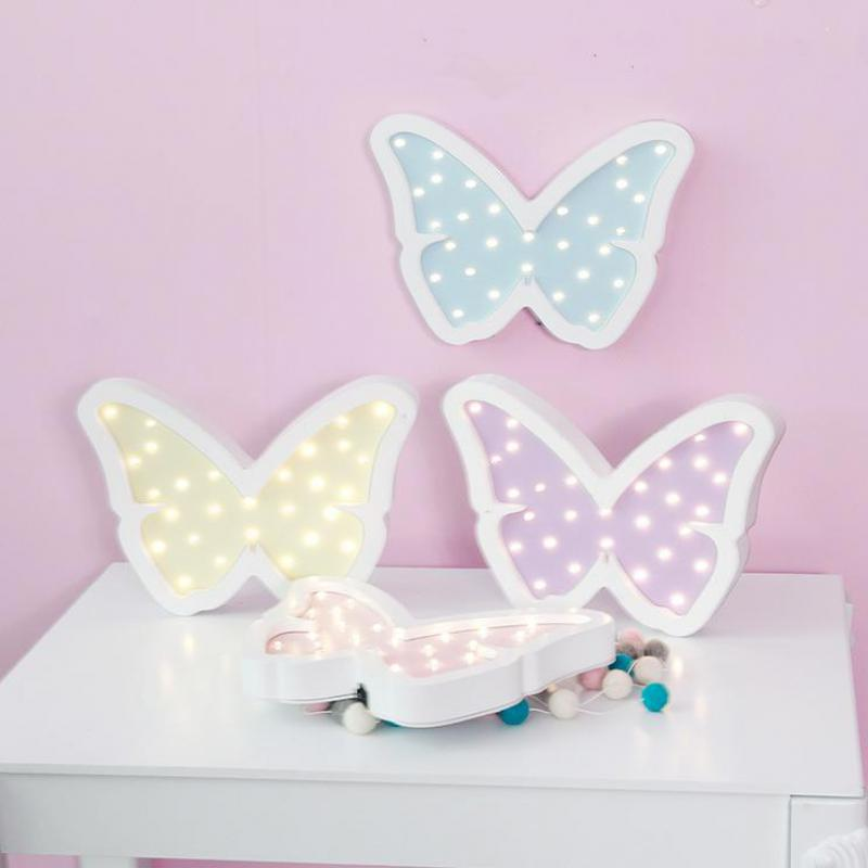 Novelty Led 3d Wall Lamp Powerbank Kids Lamp Butterfly Christmas Gift 3d Light Fixtures Wooden Wall Night Lamp beiaidi 3d vision acrylic table lamp 3d owl butterfly led night light creative wooden bedside lamp for christmas birthday gift