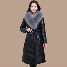 Fur Coat Faux-Fur Sheepskin-Coats Fox-Collars Winter Plus-Size Women High-Quality PC015