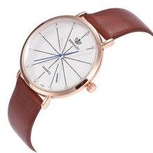 Модные Простые масштаба Золото Проба Наберите коричневый кожаный ремешок Для мужчин пара Бизнес кварцевые часы черный наручные Для мужчин s Saat часы c976