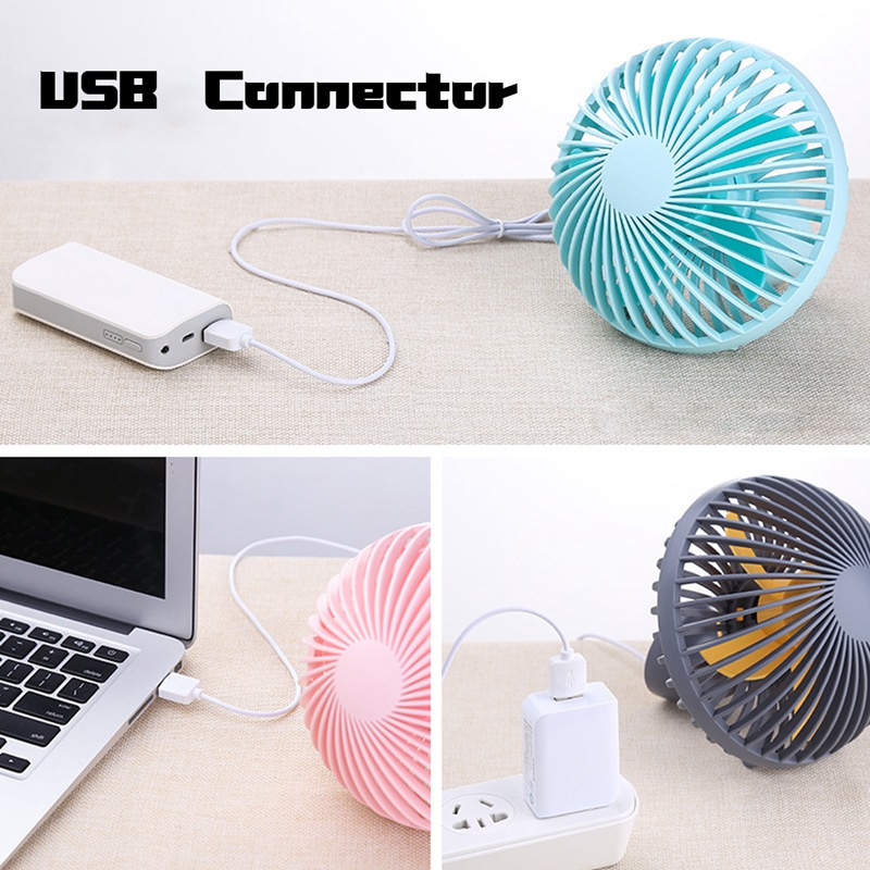 Warmtoo DC 5V ABS Mini USB/USB Charging Type Desk Fan Mute Portable Handheld Cooing Fan For Office/Home/Outdoor 150cm Cable