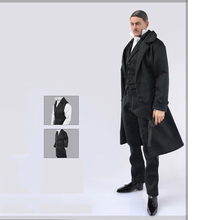 1/6 Scale Black Coat Vest Shirt Pants Set Clothes Models DIY Accessories For 12'' Action Figures' Bodies цена в Москве и Питере