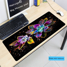 Mairuige 900*400*4MM Flowers Abstract water drop Large Soft Rubber Anti-slip Computer Mouse Mat Gaming Rectangular Table Pads