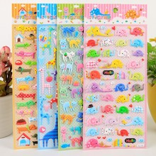 4 Sheets Different DIY 3D Cute Cartoon Stickers Toys Cat Elephant Dog Pegatinas Funny Toy For Children On Scrapbook Phone Laptop