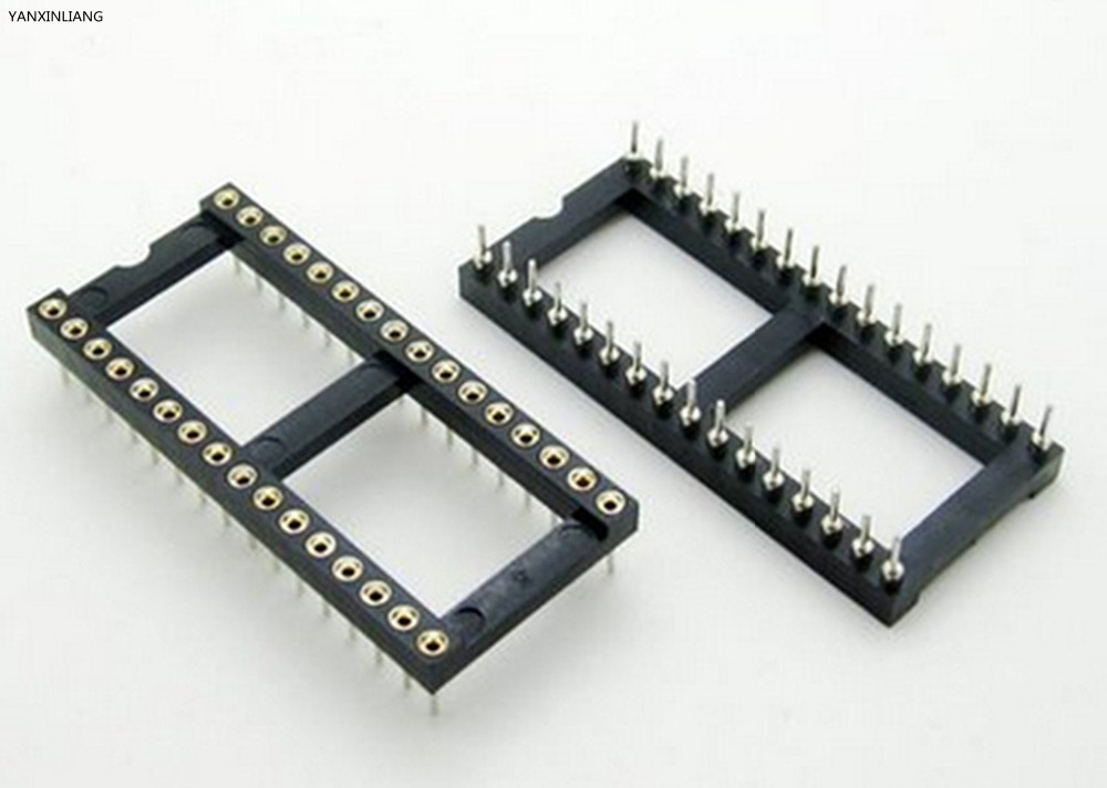 цена на 5PCS 32 Pin Round DIP IC Socket Adapter 32Pin Pitch 2.54mm Connector