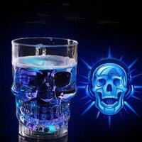 Nieuwe Collectie Glowing Cup LED Flitslicht Whisky Shot Drinken glas Cup Knipperende Bier Bar Party Wedding Club Drinkware Creatieve Gift