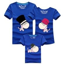 Mother Kids 2016 Men T Shirt Brand Clothing Cartoon T-shirt Homme Cotton Skate Tshirt Harajuku Polera Family Matching Clothes UK
