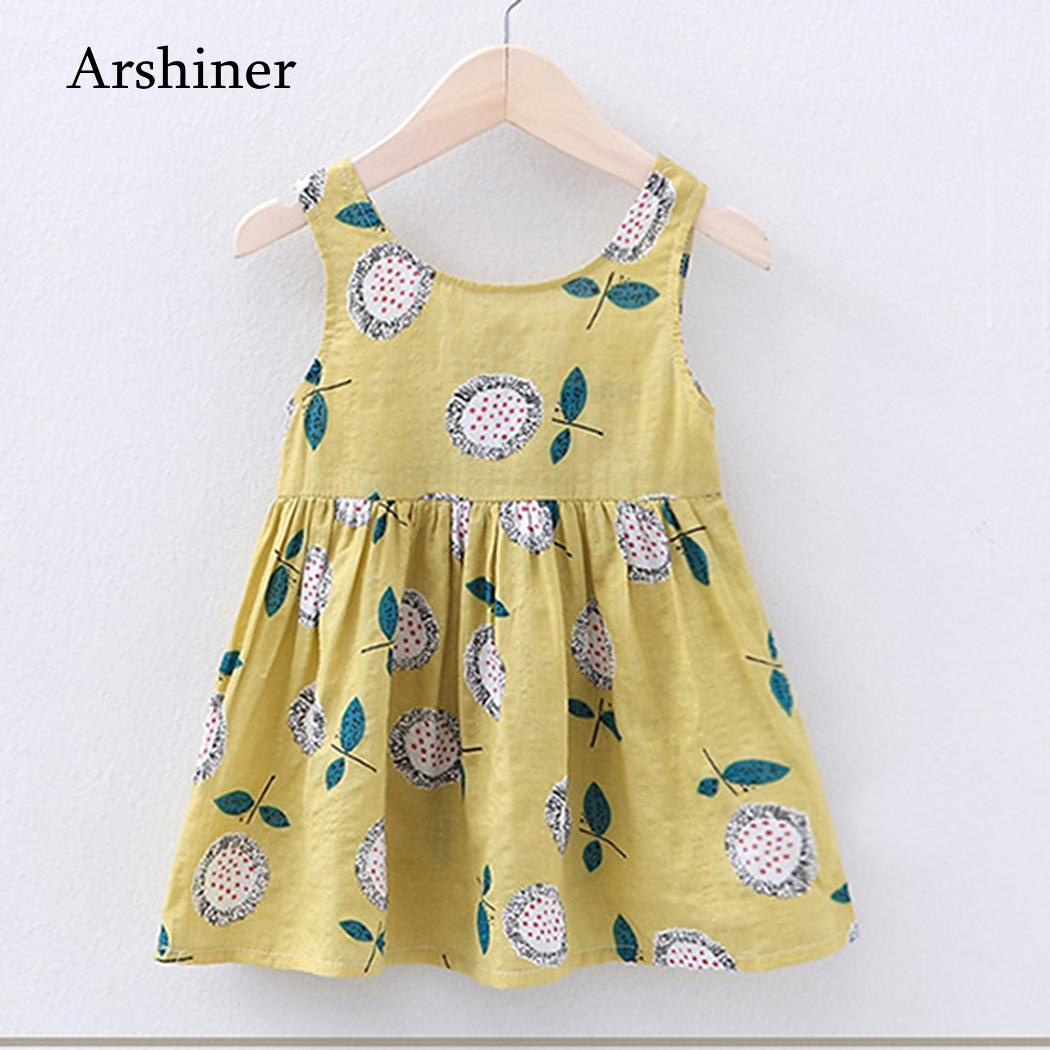 36989c1507a Newborn Baby Girl Dress Kids Clothing Summer Girls Casual Dresses Floral  Print Infant Party Dress Designer 0 24M Kids Clothes-in Dresses from Mother    Kids ...