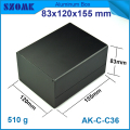 1 piece free shipping Black color aluminum housing case for electronics project case 83(H)x120(W)x155(L) mm
