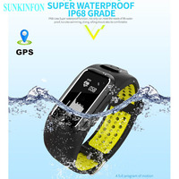DB12 GPS Motion Track Record Smart Wristband Sports Band Dynamic Heart Rate Waterproof Bracelet for Samsung Galaxy S8 / S8 Plus