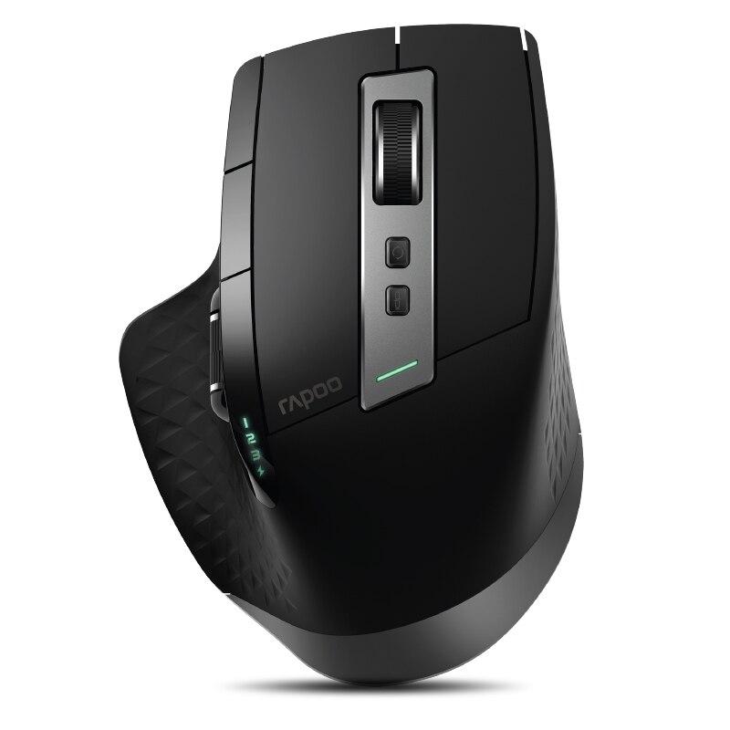 Rapoo MT750 Recarregável Multi-modo de Interruptor Do Mouse Sem Fio entre Dispositivos Bluetooth & 2.4g até 4 para PC & Mac & Win & Telefone