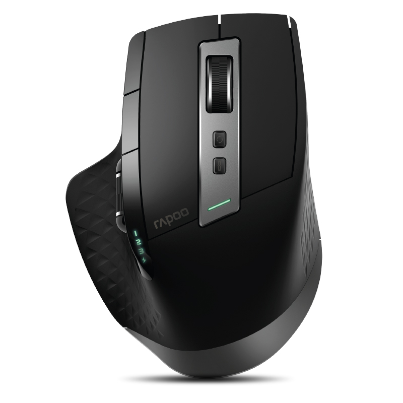 Rapoo MT750S Rechargeable Multi-mode Wireless Mouse Switch Between Bluetooth & 2.4G For 4 Devices Connect-in Mice From PC/Tablet