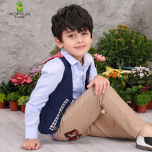 KAMIWA 2017 Boys Vests Cotton Tops Spring Autumn Teen Breasted Waistcoat Baby Children's Clothing Kids Clothes