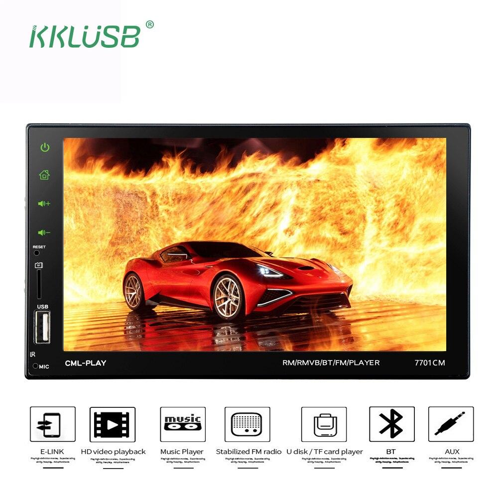 "2 DIN HD 7 ""Сенсорный экран Авторадио Bluetooth Автомагнитола аудио amrds Зеркало Ссылка USB Charger AUX TF MP5 AUX в TF камера заднего вида"