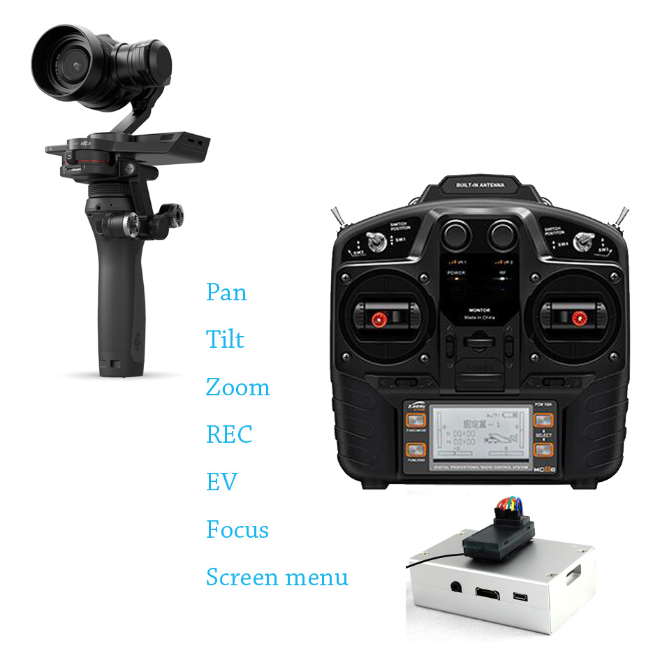 POWERKAM OSMORIDER PRO RC Remote Control System For DJI X5 Including PAN,TILT,ZOOM,REC,MENU,EV,FOCUS