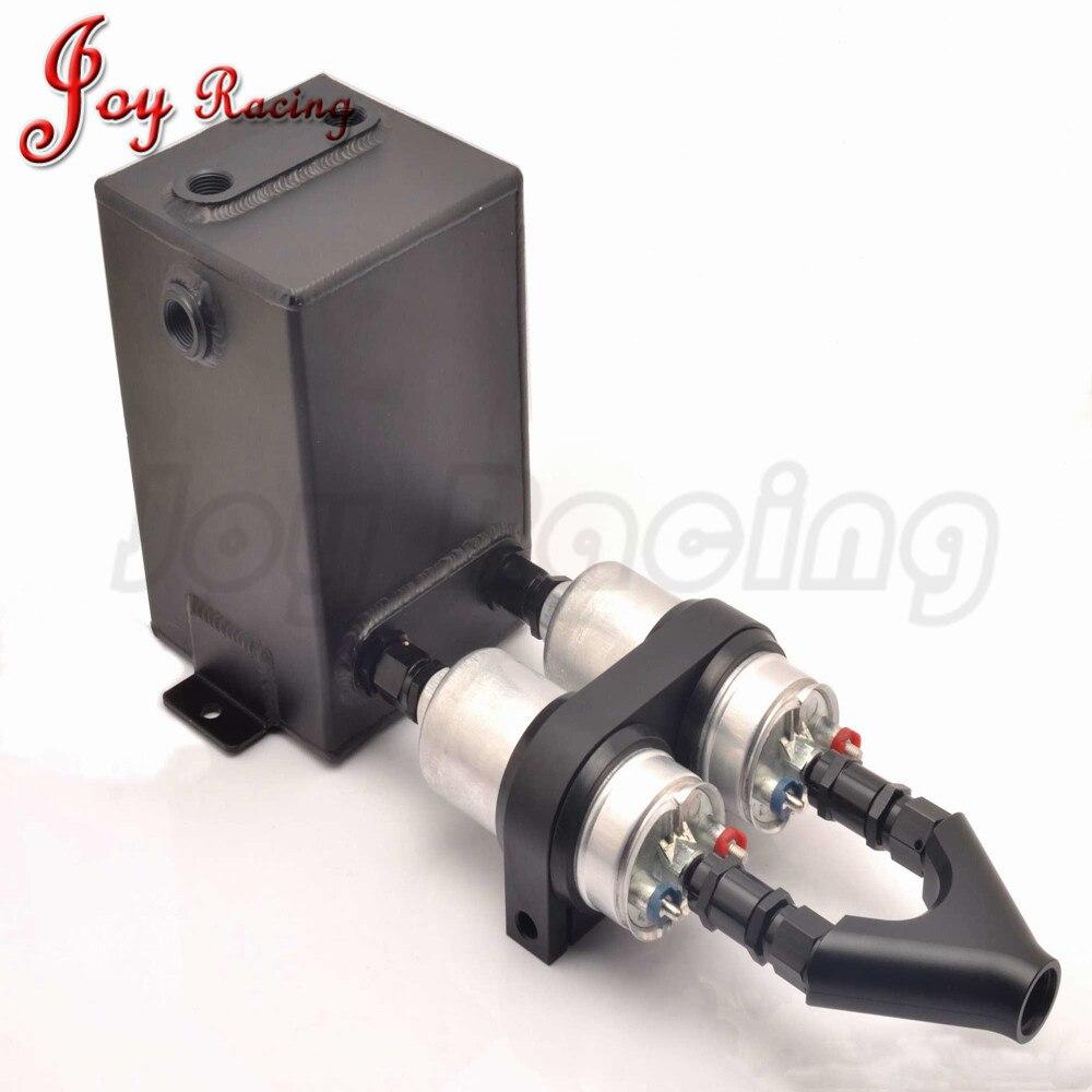 3L Aluminium Fuel Surge Tank with Y Block Bracket and Dual EFI 044 Fuel Pump