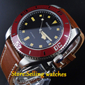 Parnis 43mm deployant clasp sapphire glass10ATM MIYOTA 821A Automatic mens watch