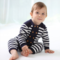 Soft and Comfortable Cotton Line Baby Double-breasted Wood Decorative Buckle Leotard ATLL0062