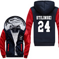 hot sale 2016 winter warm fleece Stilinski 24 men hoodies TV Show Teen Wolf Stilinski 24 men sweatshirts high quality men coat