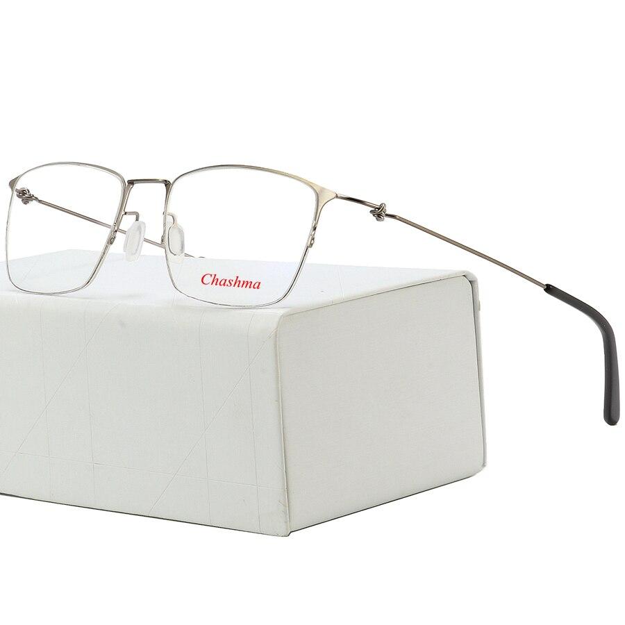 15337ed8bb Titanium Glasses Frame Men Semi Rimless Prescription Eyeglasses Women  Myopia Optical Frames Ultralight Korean Screwless Eyewear -in Eyewear  Frames from ...