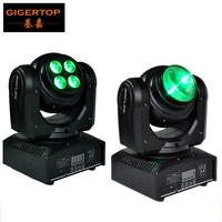 Free Shipping 2PCS Lot Compact Unlimited Rotating Moving Head Light Double Faces 4 10W RGBW 4in1
