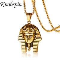 Vàng-màu Thép Không Gỉ Ai Cập Pharaoh Pendant Vòng Cổ Cho Nam Giới Dân Tộc punk Phong Cách Trang Sức 24