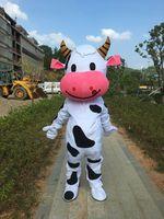 Новый Белый и Черный коровьего молока Маскоты Хэллоуина Рождество c Необычные платья взрослый костюм Размеры