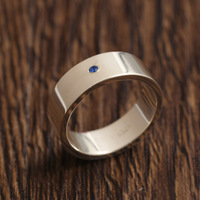 6mm Customized Name 925 Solid Silver Rings For Women with Birthstone Christams Gift
