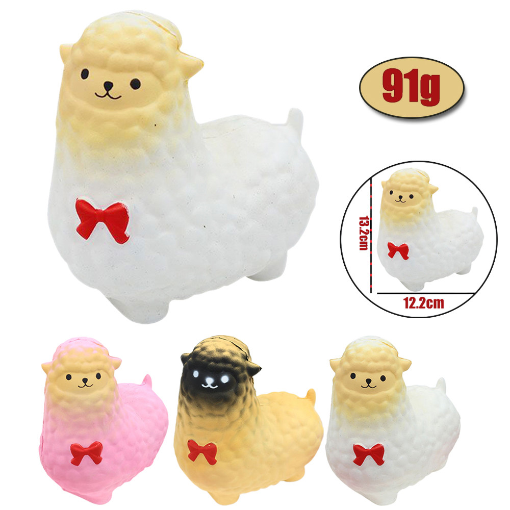 MUQGEW Jumbo Sheep Squishy Cute Alpaca Galaxy Super Slow Rising Scented Fun Animal Toys