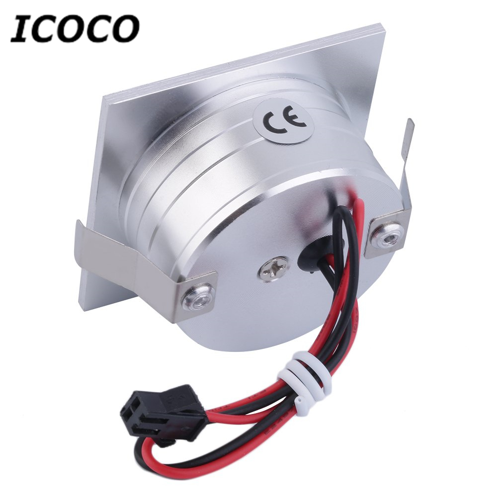 ICOCO 1pcs LED Walkway Step Stair Wall Corner Light 1W Lamp Bulb Corridor White 85-265V High Quality Promotion Sale
