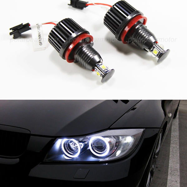 Us 46 88 20 Off 2x 40w H8 White Led Angel Eye Halo Ring Marker Light Bulb Replacement Bulb Upgrade Kit For E84 X1 E70 X5 E71 X6 In Signal Lamp From