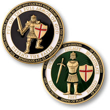 NEW Put on the Armor of God - Defend the Faith Challenge Coin 100pcslot DHL free shipping