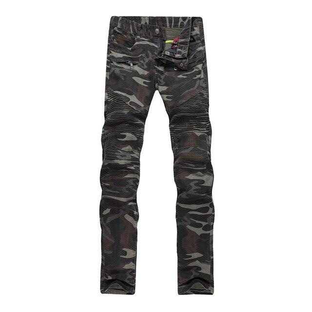 herren camouflage jeans hosen motorrad camo military slim. Black Bedroom Furniture Sets. Home Design Ideas