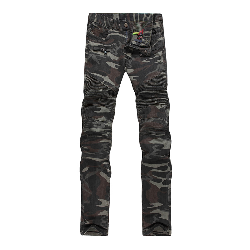 Mens Camouflage Jeans Trousers Motocycle Camo Military Slim Fit COOL Fashion Design Biker Skinny Army Green Stretch Denim Pants аксессуар защитная пленка универсальная media gadget premium 5 матовая mg348
