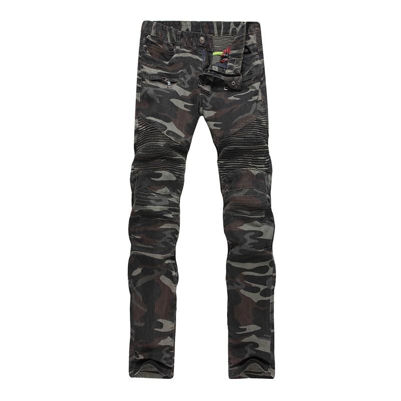 Mens Camouflage Jeans Trousers Motocycle Camo Military Slim Fit COOL Fashion Design Biker Skinny Army Green Stretch Denim Pants обои виниловые флизелиновые erismann charm 3504 5