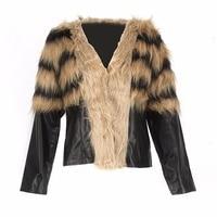 Autumn Winter Women Jacket Coat Fur Vest Faux Fox Fur Vests Long Sleeve Coat Jacket Female