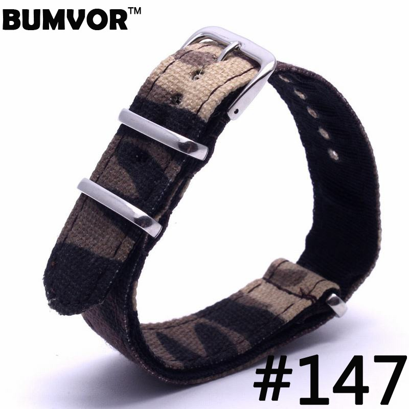 Hot sale 20mm Nato G10 Stripe Nylon Army Watch Strap Band Watchband
