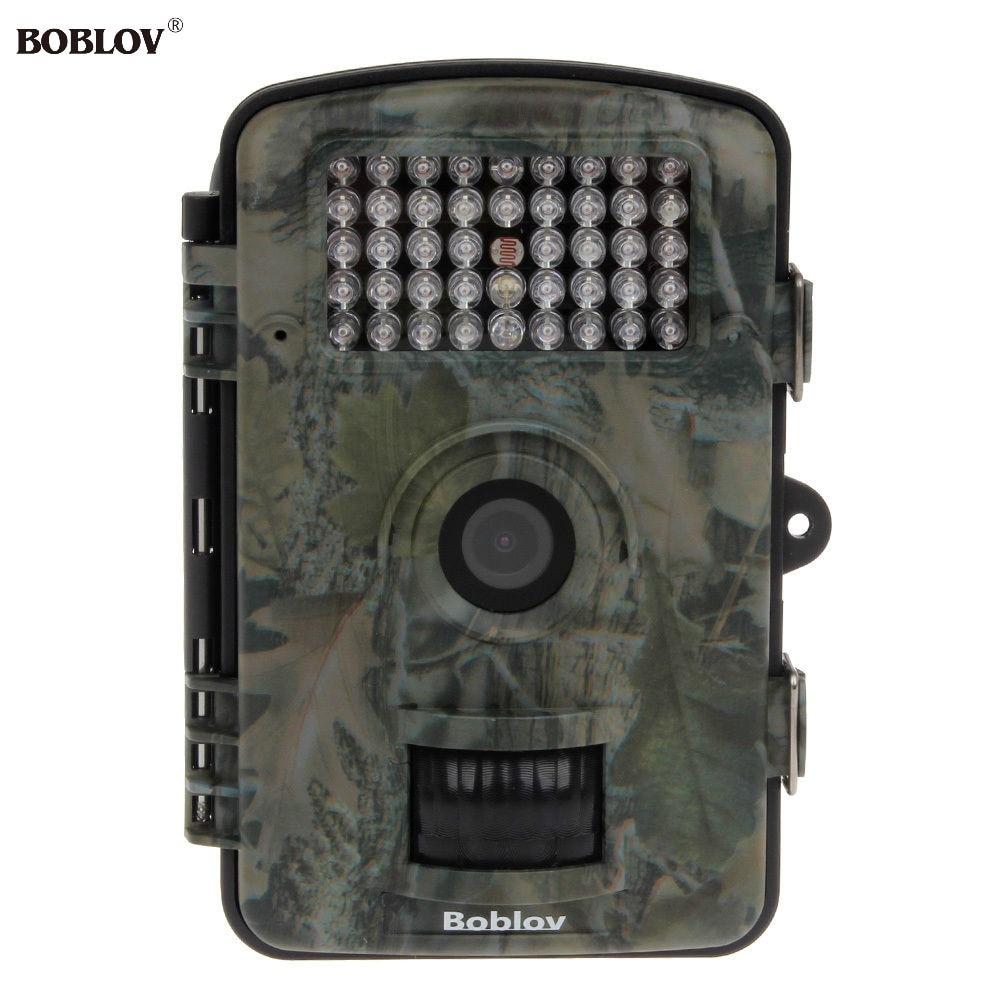 BOBLOV RD1001 2.4LCD Monitor 12MP Night Vision IR Game Hunting Trail Security HD Camera DVR PIR  Animal Trap Game + Free 8GB waterproof 2 5 lcd 8 0 mp cmos solar power ir night vision hunting trail security camera