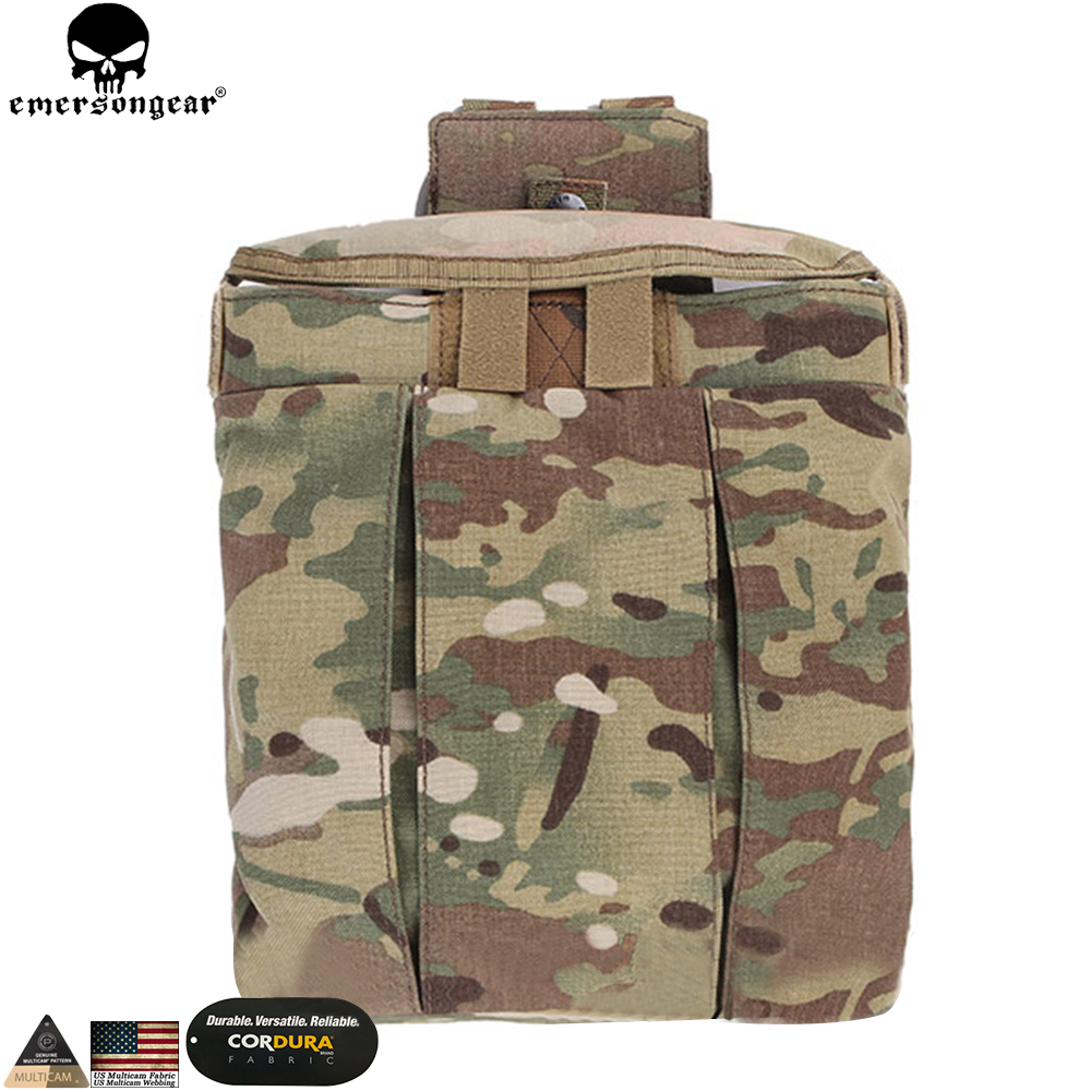 EMERSONGEAR Drop Pouch Tactical Dump Pouch Molle Magazine Pouch Military Airsoft Army Tool Mag Drop Pouch Multicam EM9042 2017 military molle ammo pouch tactical gun magazine dump drop reloader pouch bag utility hunting rifle magazine pouch
