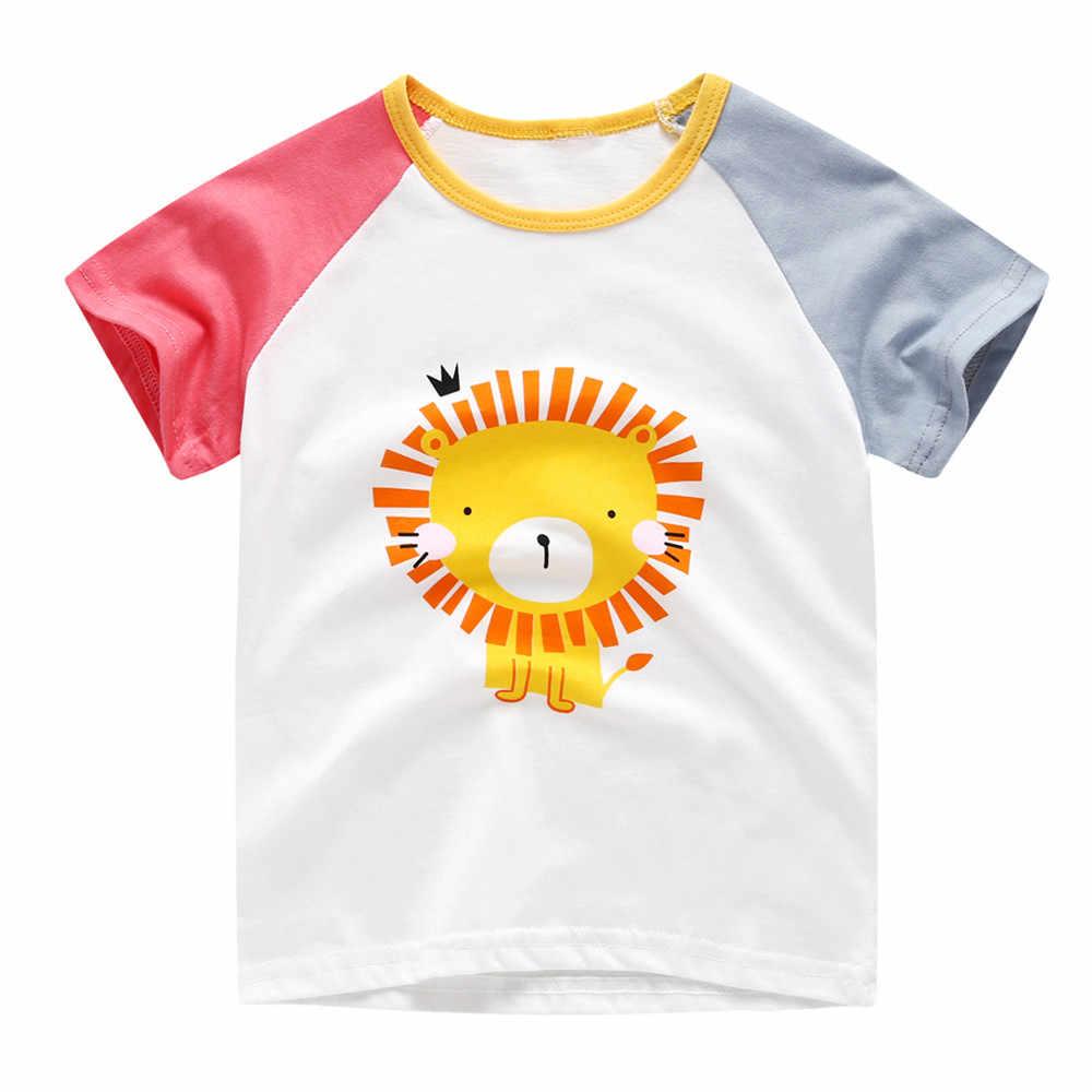 Детские футболки для мальчиков от 1 до 7 лет летние топы с короткими рукавами для девочек, хлопковые футболки для маленьких мальчиков, верхняя одежда детская футболка, одежда