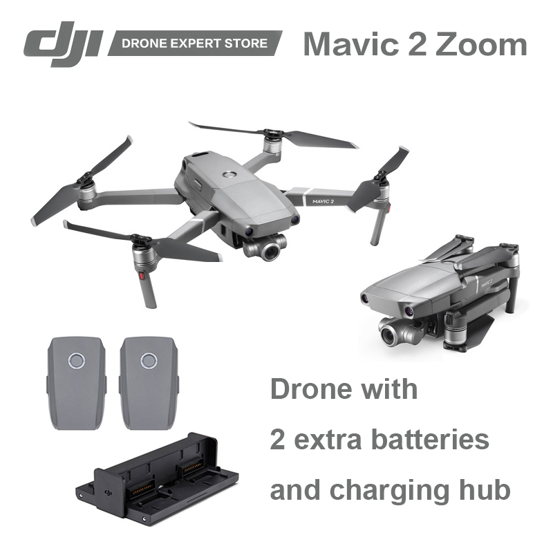"Original DJI Mavic 2 Zoom with 2 Extra Batteries and a Charging Hub 2x Optical Zoom 1/2.3"" Camera FPV RC Drone"