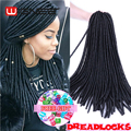 "20"" Havana Mambo Faux Locs Braids 20 Strands Crochet Dreadlock Braids Hair Extensions Softex Spiral Hollow Crochet Twist Braids"