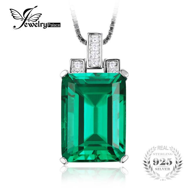 Jewelrypalace 6.51ct nano russa pingente de esmeralda esmeralda corte de alta qualidade sólida 925 sterling silver vintage set marca new