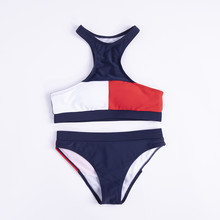 2019 Solid Sexy low Waist Bikini Bandeau Women Plus Size Swimwear Biquinis Feminino Swim Suit Bathing Beach Wear(China)