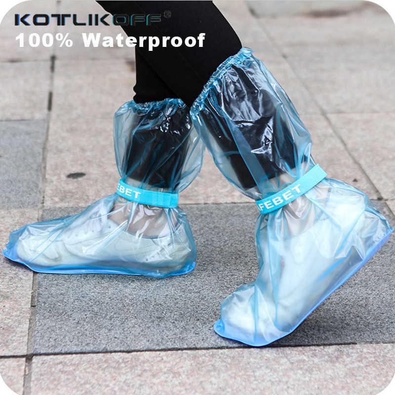 1 çift Su Geçirmez Yağmur Ayakkabı Kapağı Erkek Kadın Ayakkabı Koruyucu Kullanımlık bot galoşları Yağmurlu Bir Gün Botları Galoş Seyahat Ekipmanları