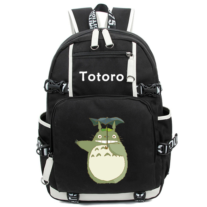Anime Totoro School Bags Backpack My Neighbour Totoro Luminous Students Bookbag Laptop Schoolbags Rucksack Free Shipping #5