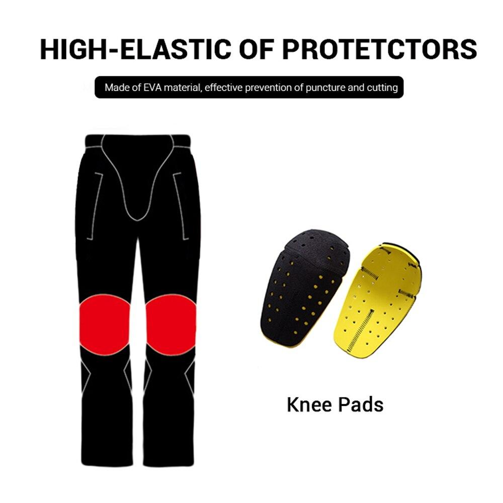 DUHAN Pantalon de Moto Hommes Coupe-Vent équipement de protection Motocross Pantalon Moto Pantalon de cyclisme Pantalon Moto Pantalon Avec Genou - 4
