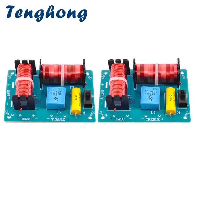 Tenghong 2 قطعة 2 طريقة الصوت كروس مجلس ايفي باس ثلاثة أضعاف المتكلم تردد مقسم للمنزل مسرح الصوت جودة الداعم DIY بها بنفسك