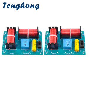 Image 1 - Tenghong 2pcs 2 Way Audio Crossover Board HIFI Bass Treble Speaker Frequency Divider For Home Theater Sound Quality Booster DIY