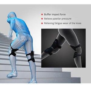 Image 5 - Gemeinsame Unterstützung Knie Pads Atmungsaktive Power Lift Gemeinsame Unterstützung Bandage Knie Pad Power Knie Stabilisator Pads Frühling Kraft Knie Booste