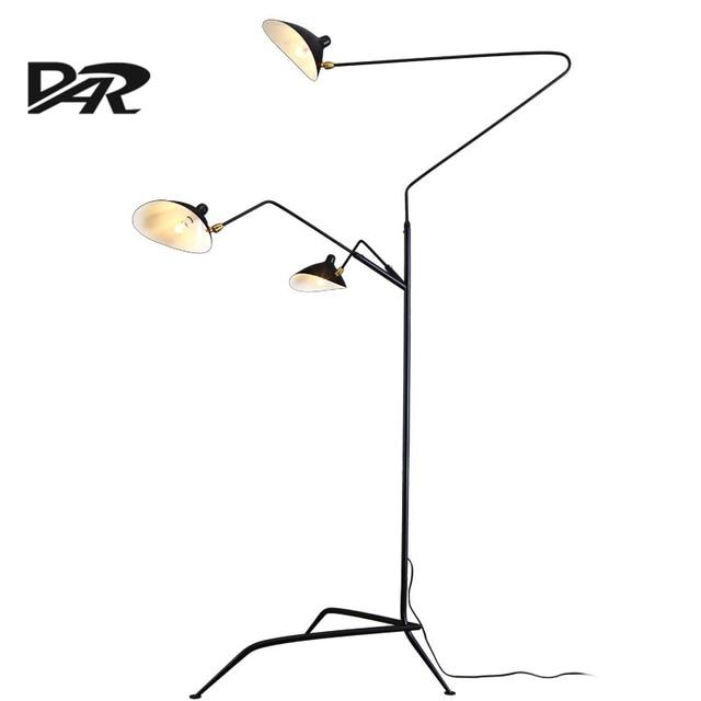 Extrêmement Nordique Creative Design Serge Mouille Lampadaire Réglable Tête  HB72